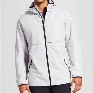C9 by Champion Mens Packable Light Gray w/Black Windbreaker Jacket Size XXL